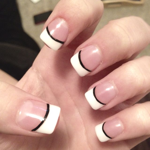 French manicure (: