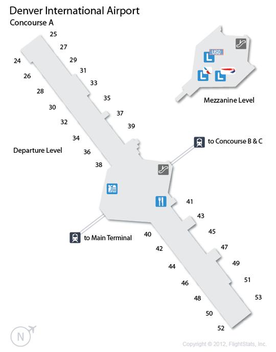 DEN) Denver International Airport Terminal Map | airports ...