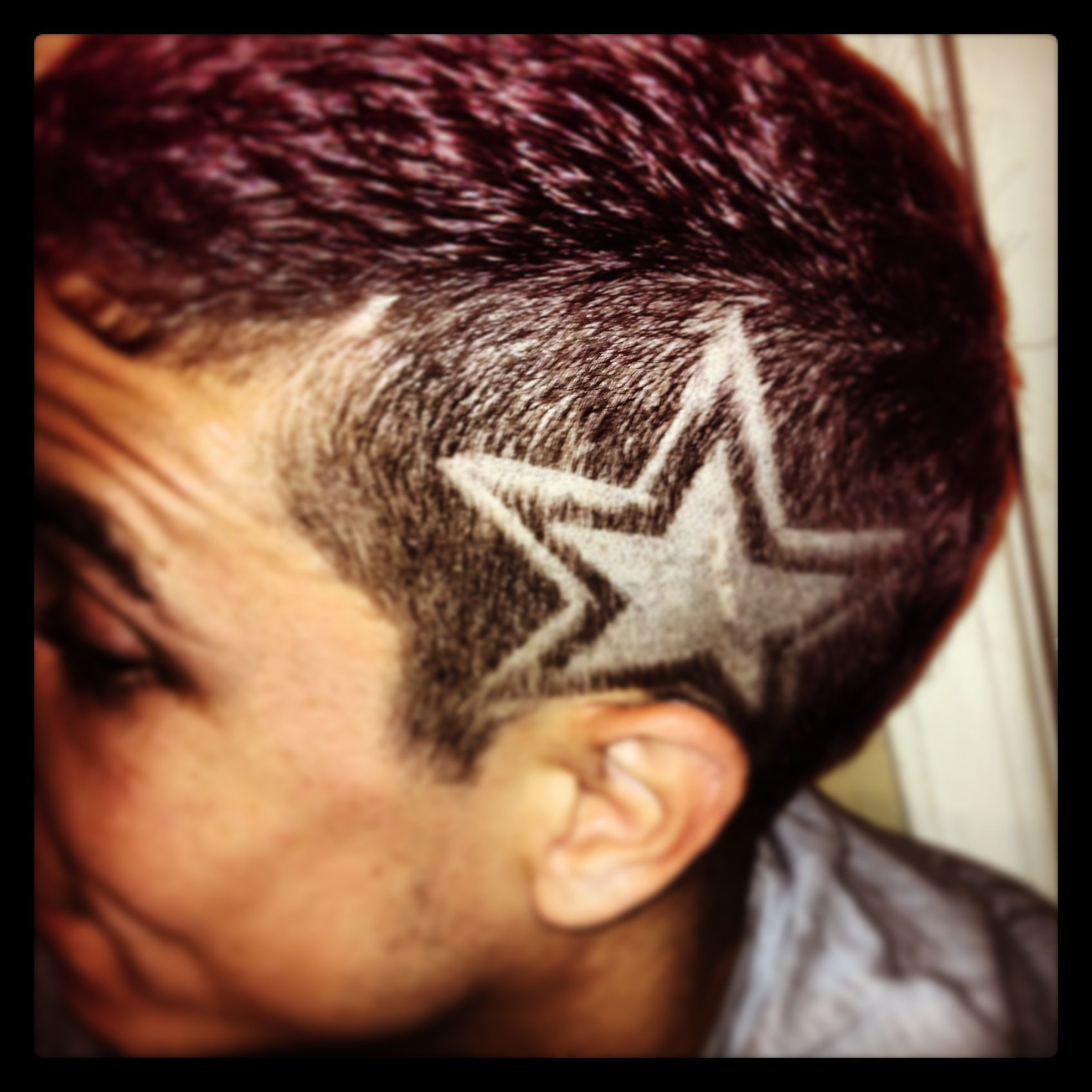 Star Design Haircut | Fade Haircut