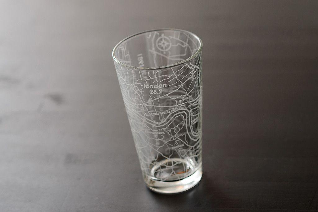 New York Subway Map Drinking Glass 16oz.London 26 2 Marathon Map Pint Glass Longhorn Run 2017 Pint