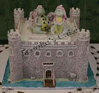 Castle Cake Full On Medieval Castle With Inner Keep Towers