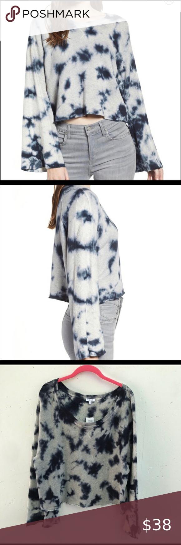 Nwt Splendid Tie Dye Crop Sweatshirt Nwt Stylish Oversized Fits More Like A L Cropped Tie Dye Sweatshirt With Long B Crop Sweatshirt Clothes Design Tie Dye [ 1740 x 580 Pixel ]
