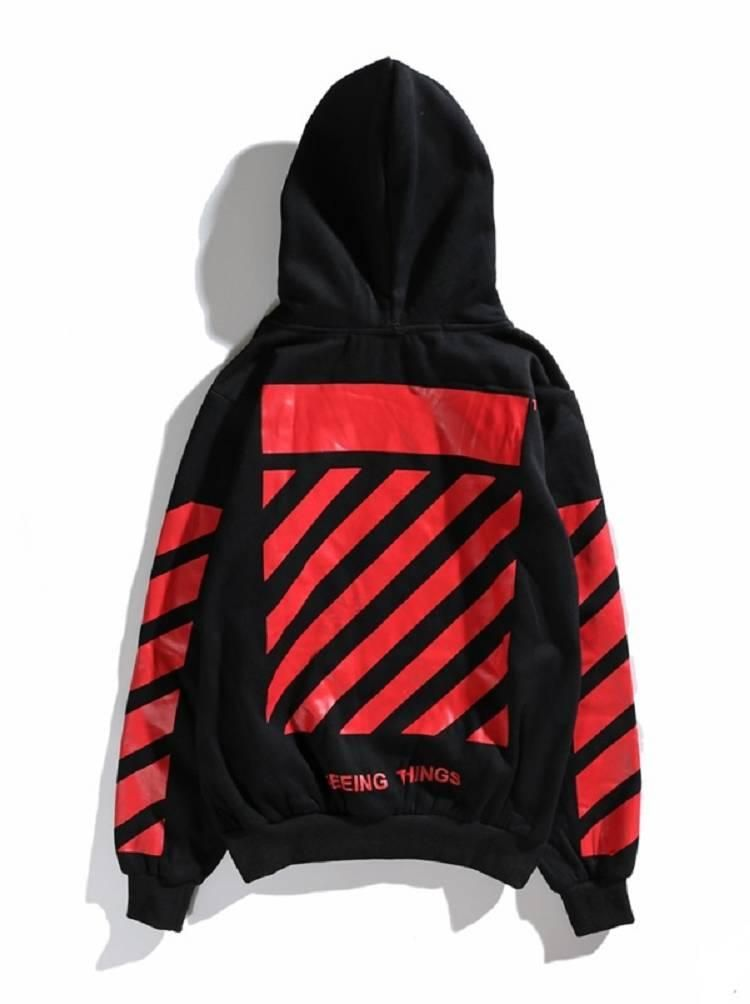 a4dcd7584715 Off White Red Stripes Religion Black Hoodie Online