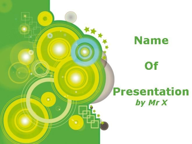 Modelo Powerpoint Circulos Verdes Com Imagens Modelos De