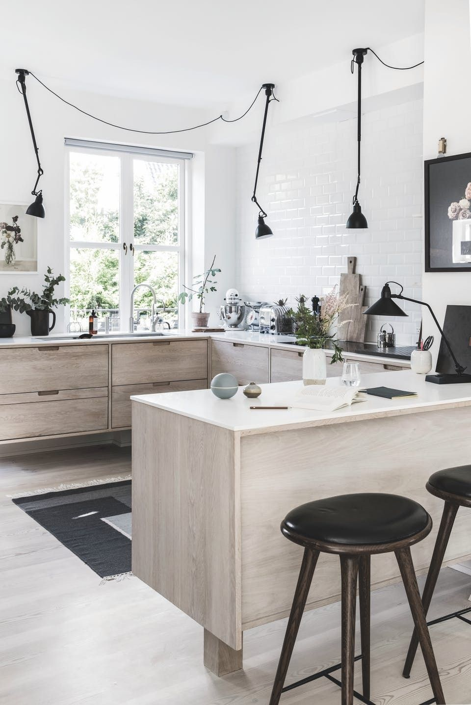 Scandinavian kitchen with breakfast bar | Kitchen | Pinterest ...