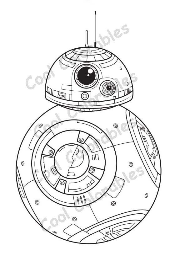 Star Wars BB8 Coloring page Great