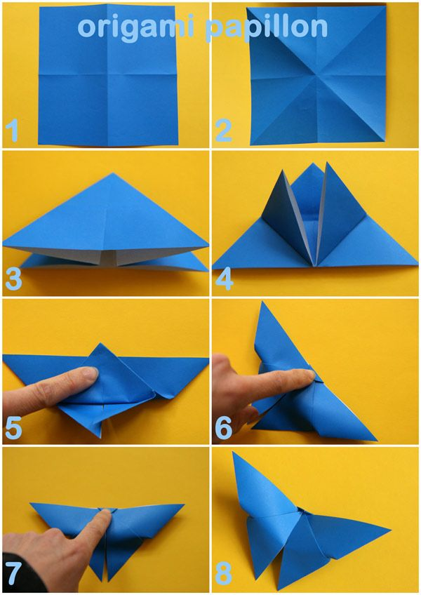 tutoriel origami papillon facile