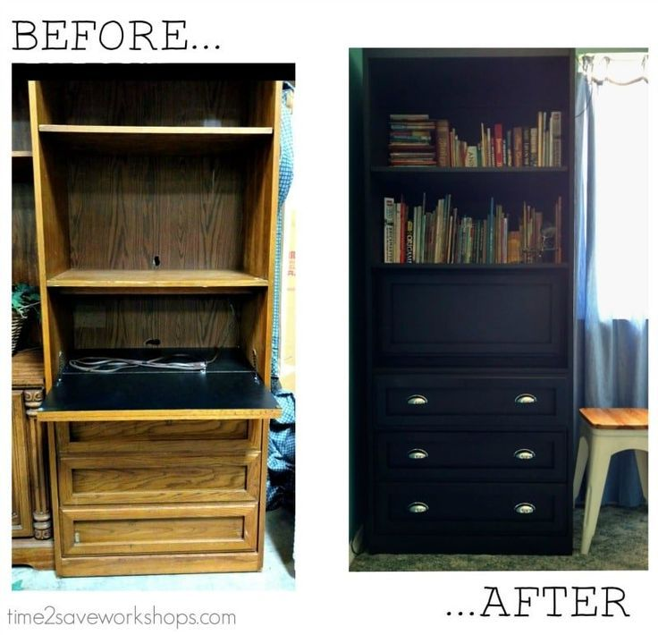 Spray Paint Wood Furniture Without Sanding (+ My Computer Desk Makeover!) -  #computer #Desk ... #spraypainting