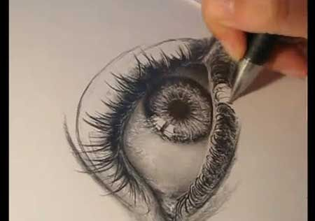 Drawing a realistic eye video lessons of drawing painting
