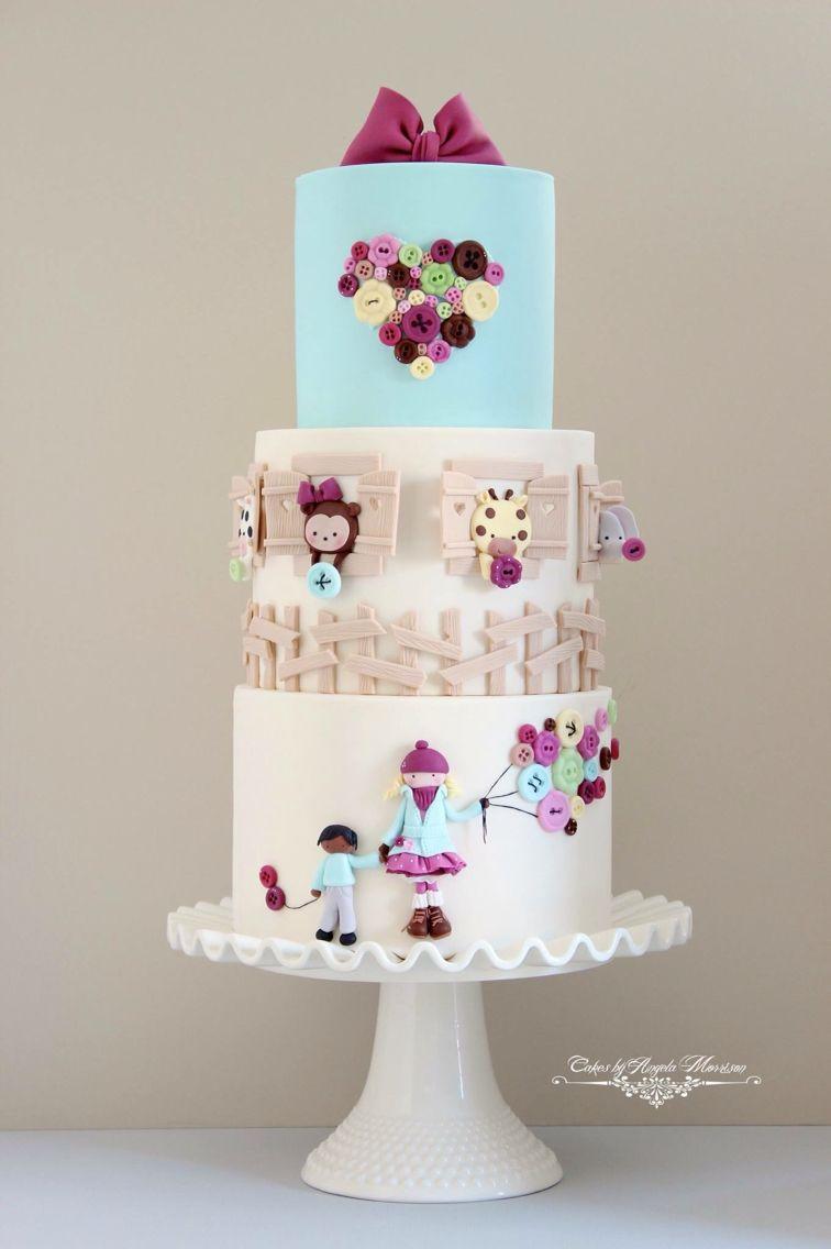 Cute animal girl Cake