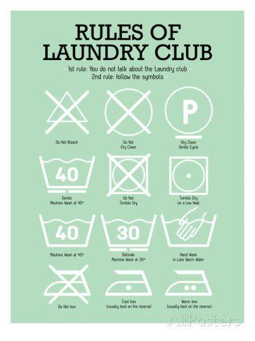 Laundry Club Green Pósters por Patricia Pino en AllPosters.es