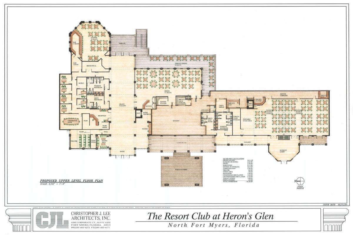 The Club At Heron S Glen Cjl Architects Heron How To Plan