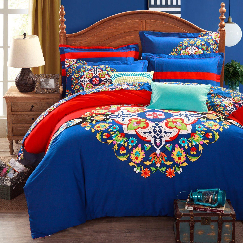 AmazonSmile FADFAY 4 Piece Bohemian Bedding Boho Bedding Set Full