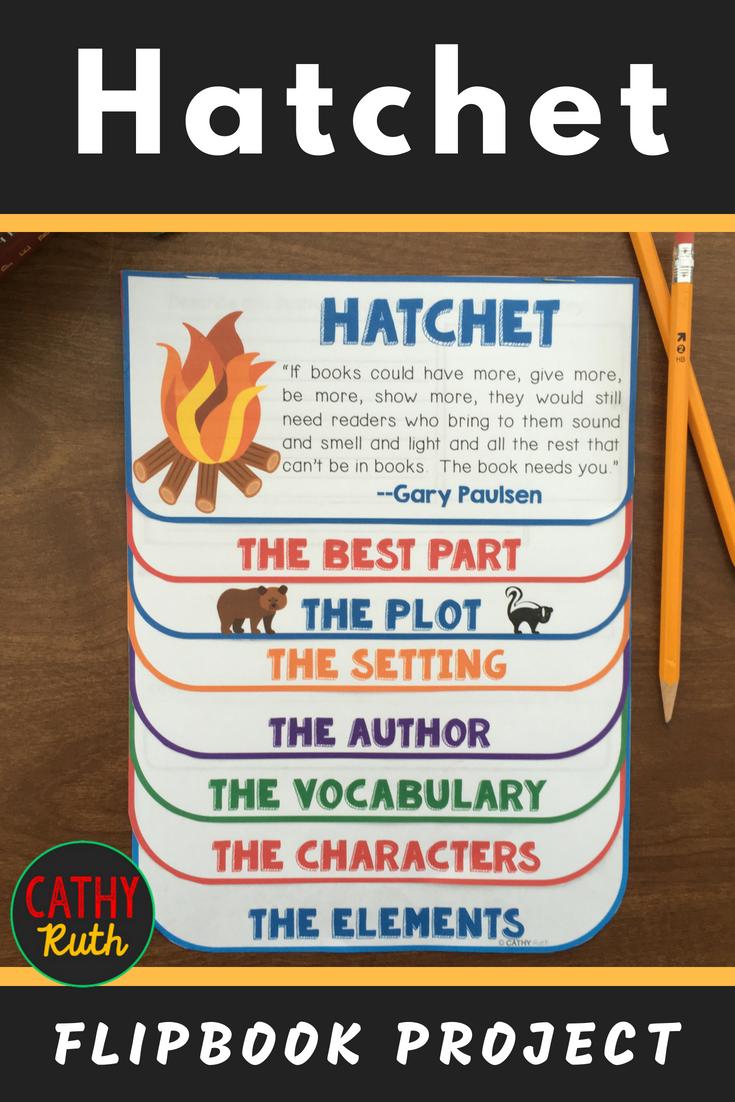 Hatchet Novel Study Flip Book Project Vocabulary Writing Prompts Hatchet Novel Study Hatchet Book Study Hatchet Novel