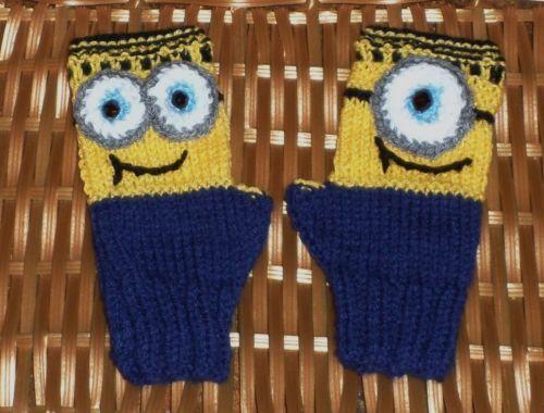 1EYE 2EYE Minion Like Childrens Fingerless Puppet Gloves Size Middle School | eBay