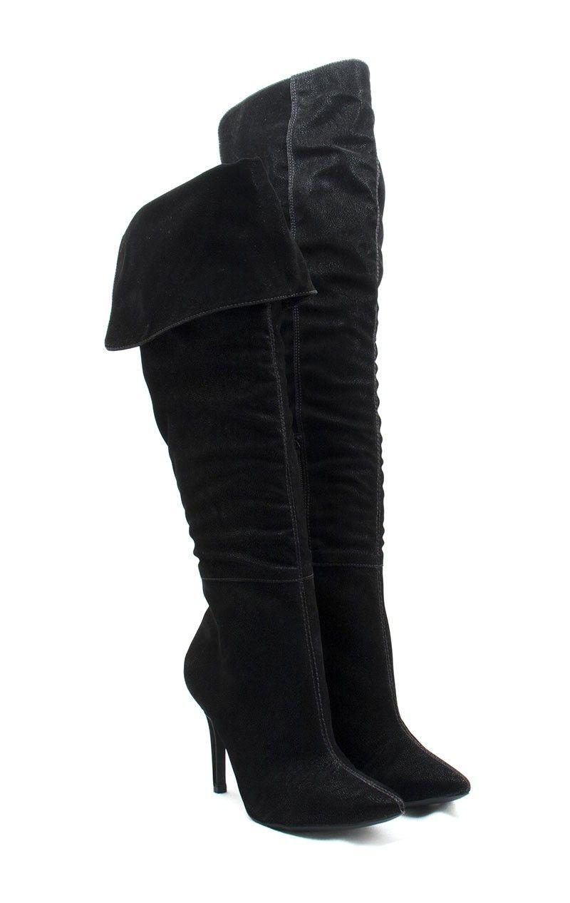 19024c8b23 Ana Mello Calçados Femininos - Bota Cano Longo Bico Fino Preta - Botas