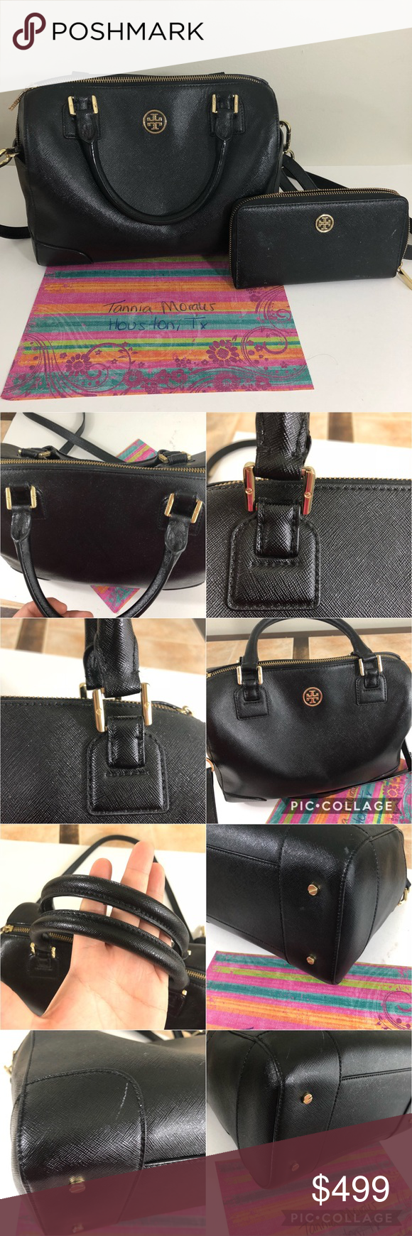 f530e96a8ba Spotted while shopping on Poshmark  Tory Burch Black Midi Robinson Handbag  OBO!  poshmark  fashion  shopping  style  Tory Burch  Handbags
