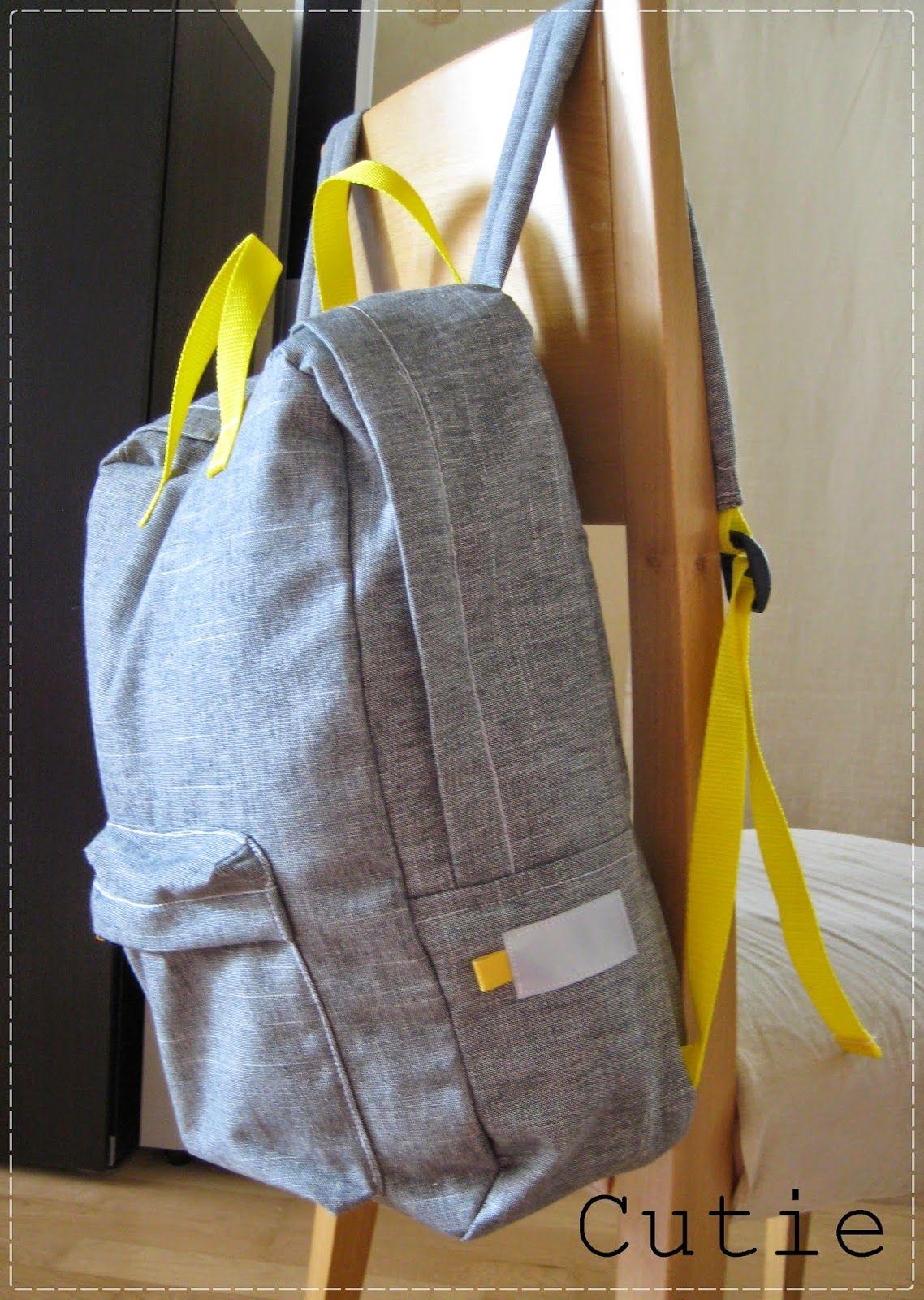 Cutie: Back to school using Petit a Petit\'s tutorial <3 | Sew Bags ...