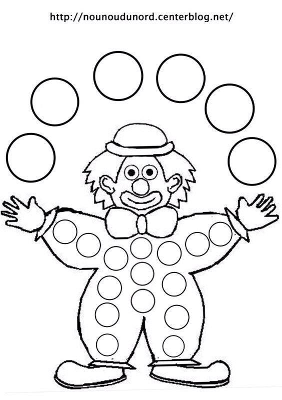 art deco clown coloring pages - photo#2