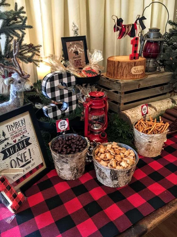 Little Lumberjack Birthday Party Ideas | Photo 2 of 33 #boybirthdayparties