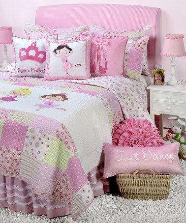 This Ballerina Quilt Set Is Perfect Zulilyfinds Girl Bedroom Designs Kids Room Design Baby Girl Bedroom