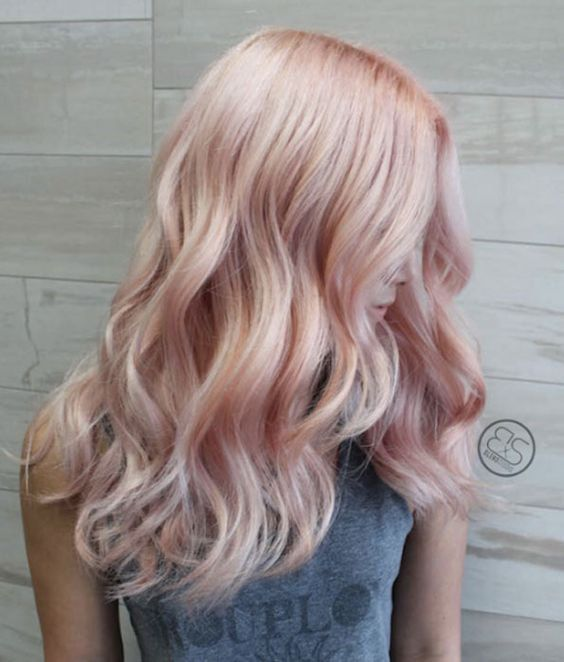 Blonde pink 100 remy clip in human hair extensions double wefted i love this multi tone rose gold hair maybe a little warmer pmusecretfo Choice Image