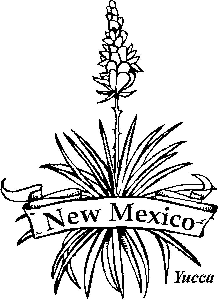 New Mexico State Flower Coloring Pages Flower Coloring Pages