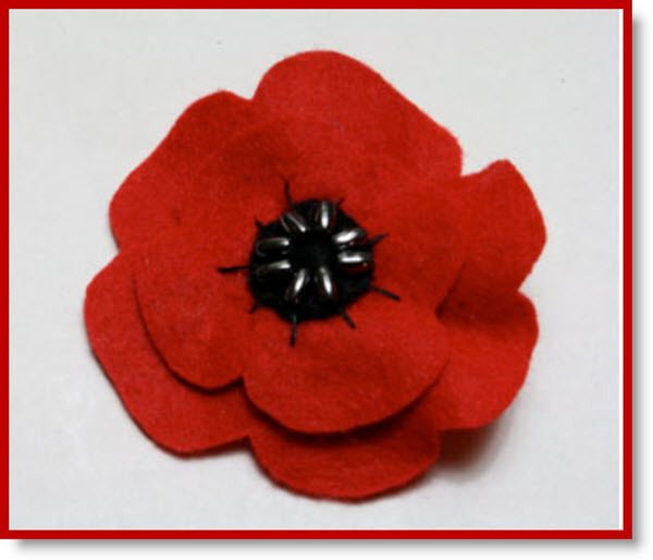 Felt poppies for Memorial/Remembrance Day Tutorial