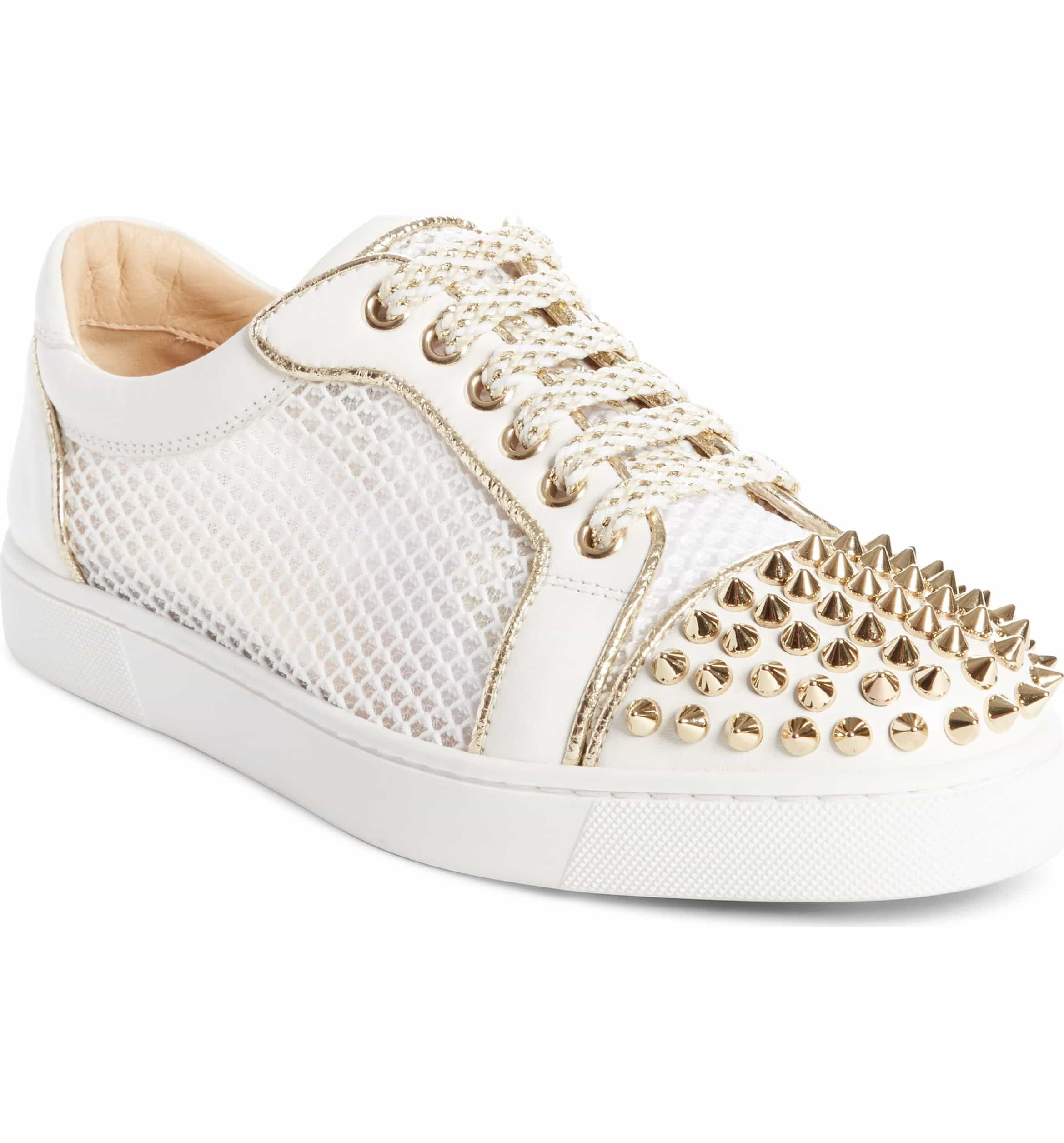 58763726260 Vieira Spiked Low Top Sneaker, Main, color, LATTE/ LIGHT GOLD ...