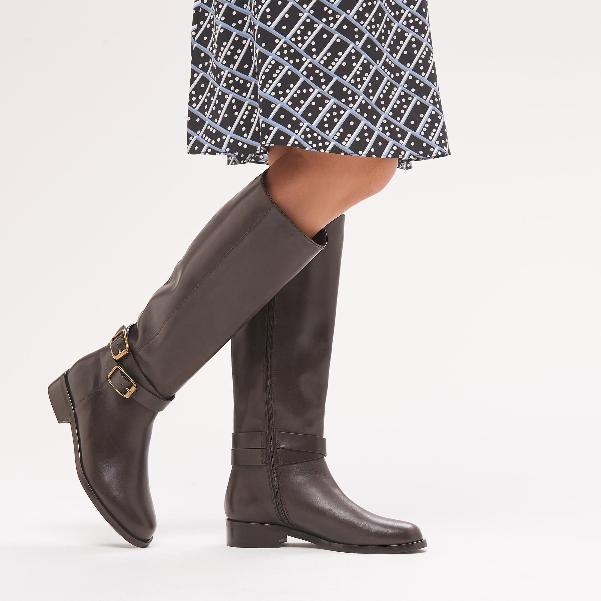 ef3e989892df Brogan Brown Leather Knee Boots