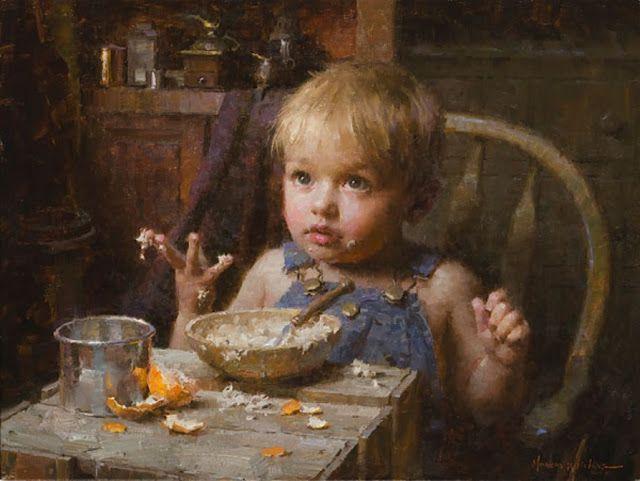 Bambini Dipinti ~ Il mondo di mary antony: i ritratti di bambini di morgan weistling