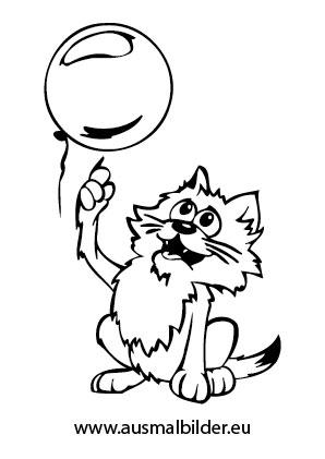 Ausmalbild Katzchen Zerstort Ballon Zum Ausmalen Ausmalbilder Malvorlagen Katze Ausmalbilderkat In 2020 Ausmalbilder Katzen Katze Zum Ausmalen Weisse Katze