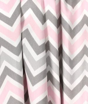 Gray And Pink Chevron Curtains Gray Curtains Nursery Grey