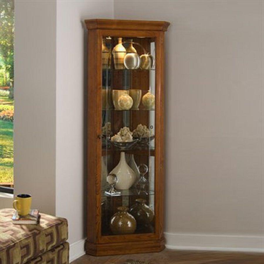 Eine Moderne Ecke Curio Cabinet Kommode Kommode Modern Schrank