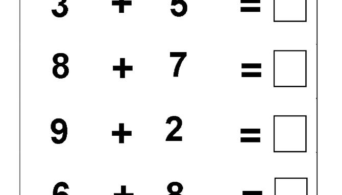 Beginner Addition – 5 Kindergarten Addition Worksheets   homeschool ...