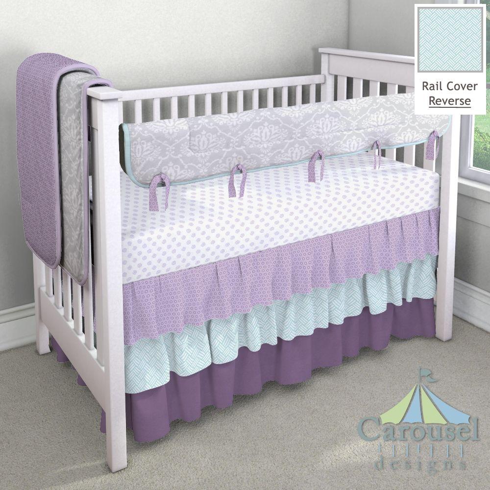 custom nursery bedding brooklyn alyvia nursery lilac nursery custom baby bedding. Black Bedroom Furniture Sets. Home Design Ideas