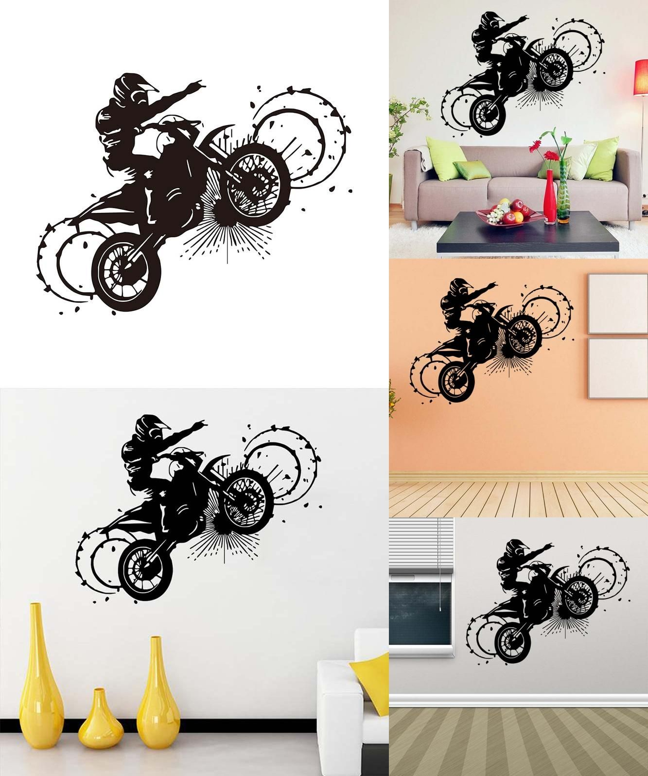 Visit to buy i go motorcycle wall stickers vinyl creative plane