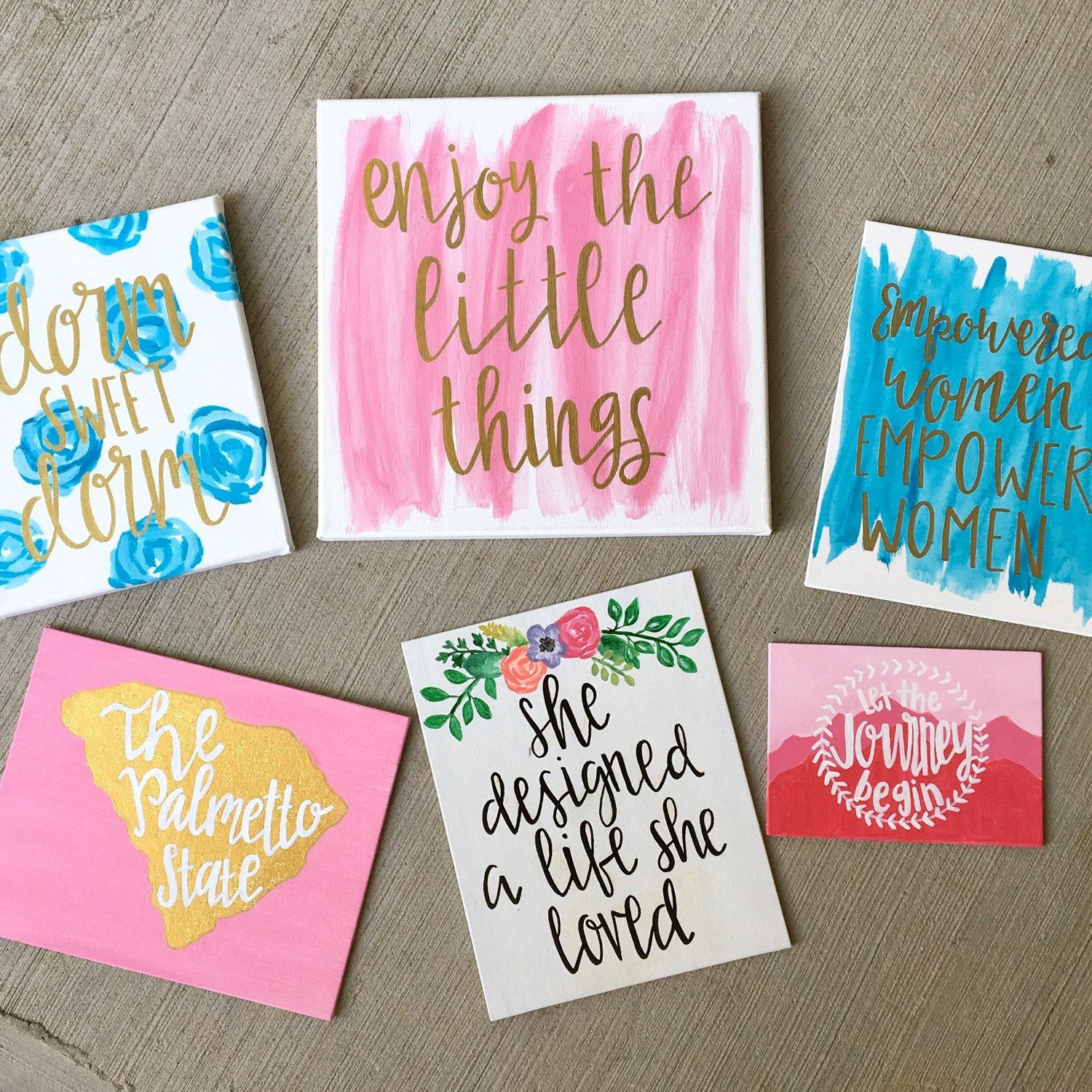 Browse Unique Items From Rosiebygrace On Etsy A Global Marketplace Of Handmade Vintage And Creative Goods Canvas Art Quotes Dorm