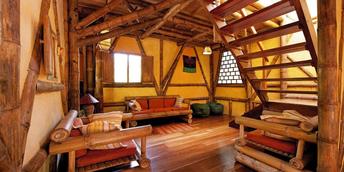 Bamboo decor at Limón Eco Lodge Costa Rica, Tree House