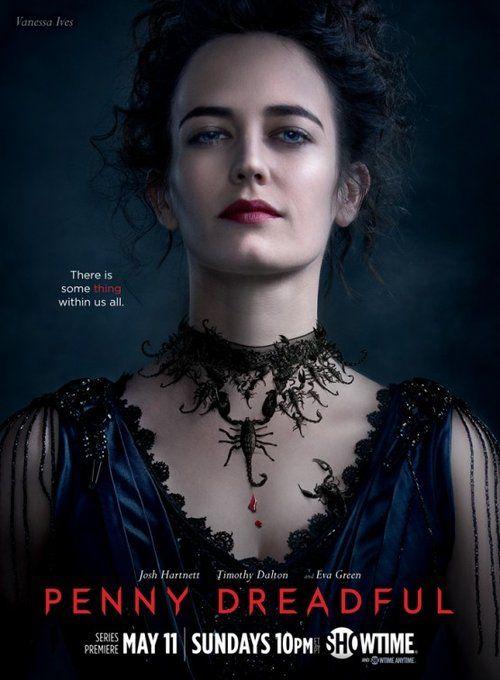Offizielles Poster zur Showtime-Serie Penny Dreadful. Es zeigt Eva Green in ihrer Rolle der Vanessa Ives.