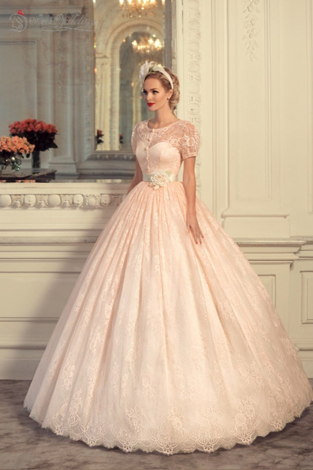 Pin By Rosa Mendez On Everything Wedding Gowns Blush Pink Wedding Dress Pretty Dresses [ 1500 x 999 Pixel ]