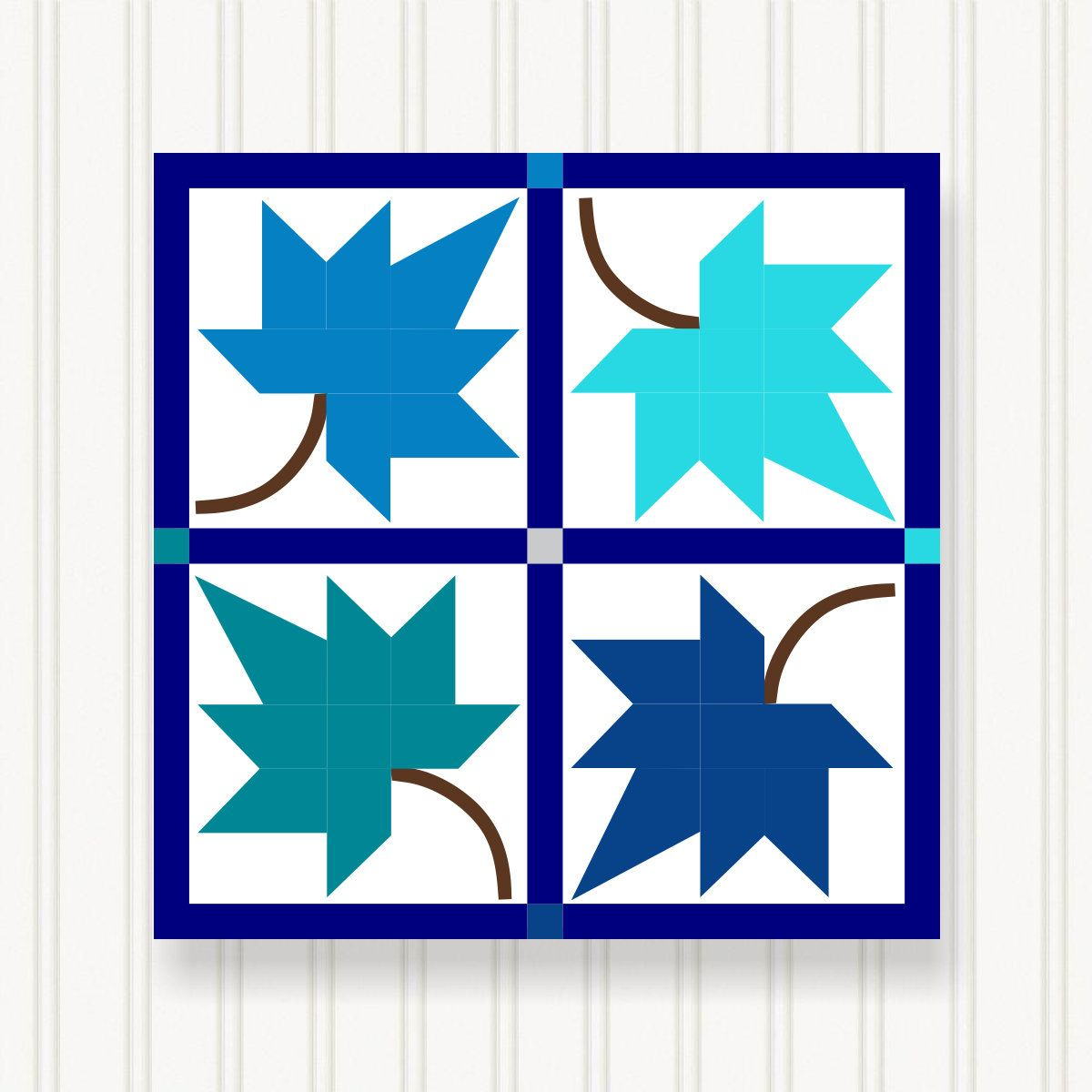 Bq019 03 Barn Quilt 6 Sizes Bright Colors Head Turning