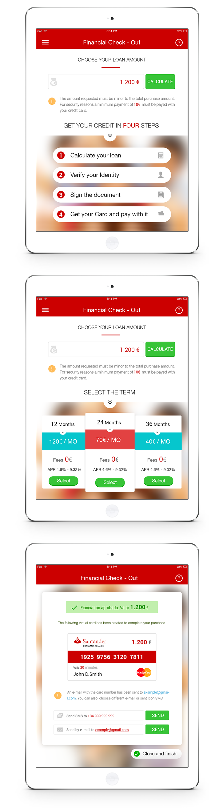 Santander Consumer Finance Ios App On Behance With Images