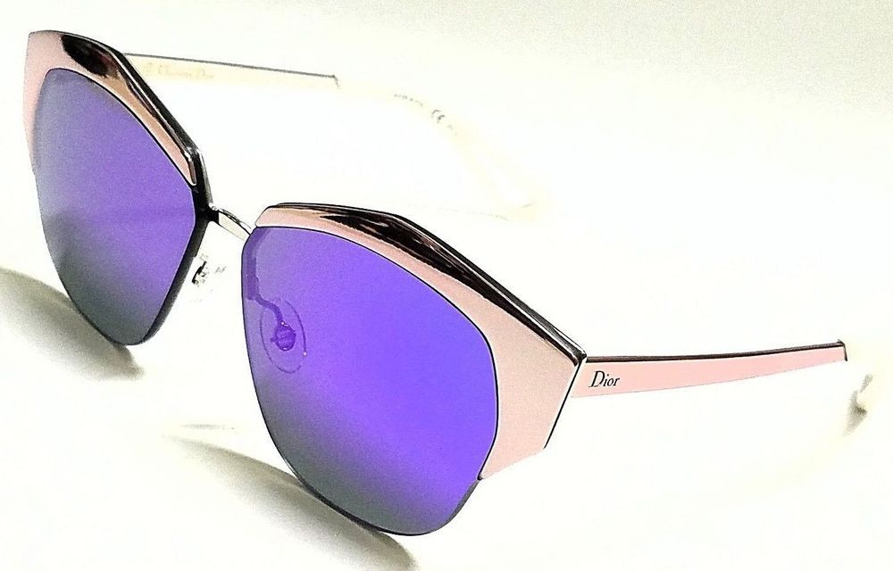 4789d721cd0c Authentic Christian Dior DIORMIRRORED I24 TE Pink Silver Violet Mirror 55mm  designer fashion