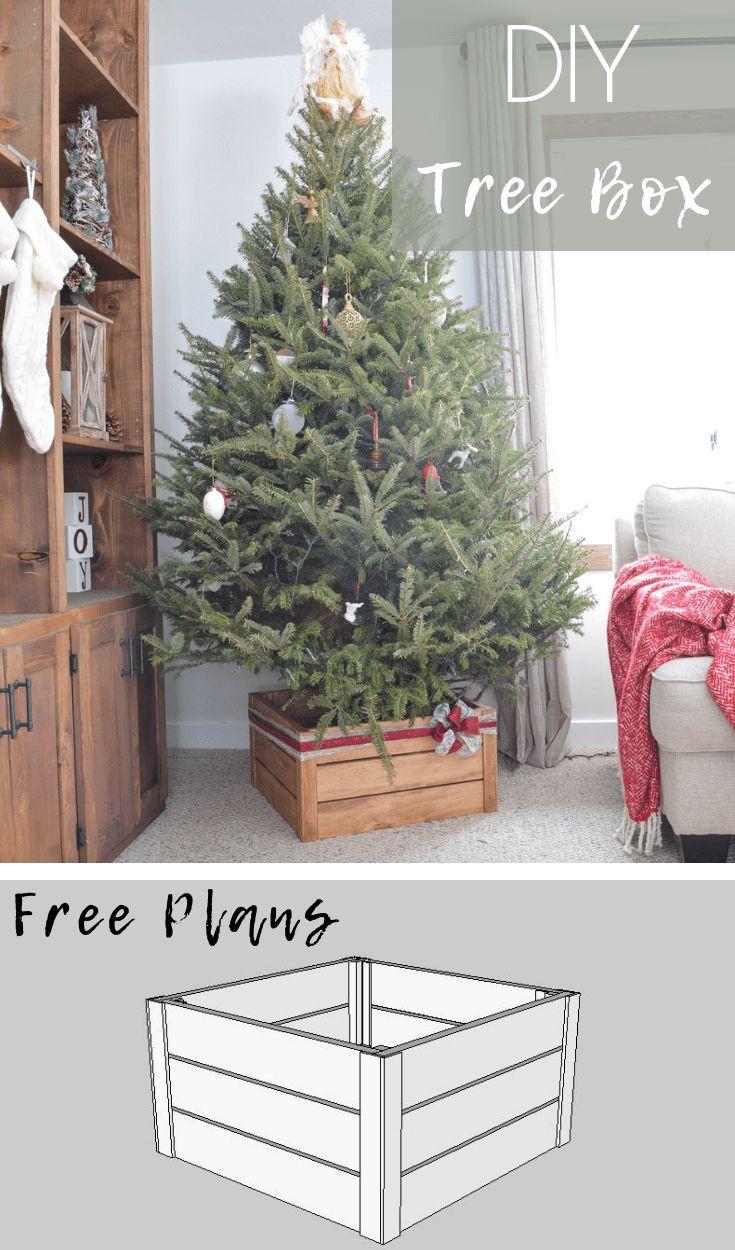 DIY Christmas Tree Stand. 1. Wrap an old cardboard box