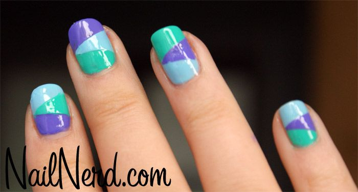 Nail Nerd Art For Nerds Tri Color Club Nails
