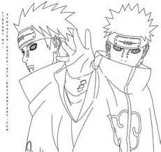 Image Result For Akatsuki Coloring Pages Desenho