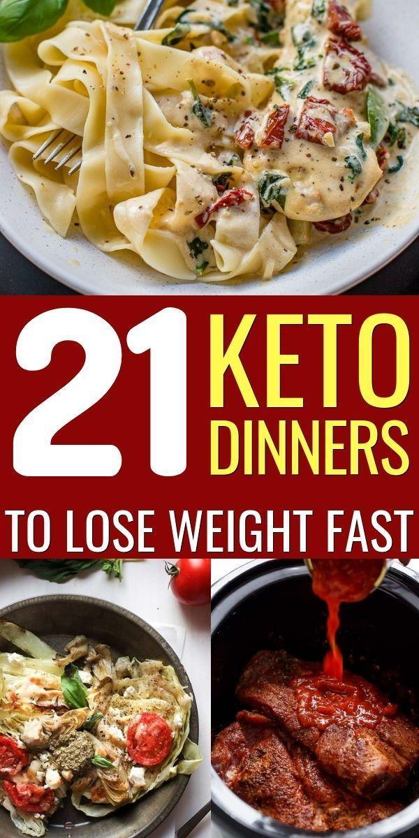 21 Easy Keto Dinner Recipes to Lose Weight #ketodinnerrecipes