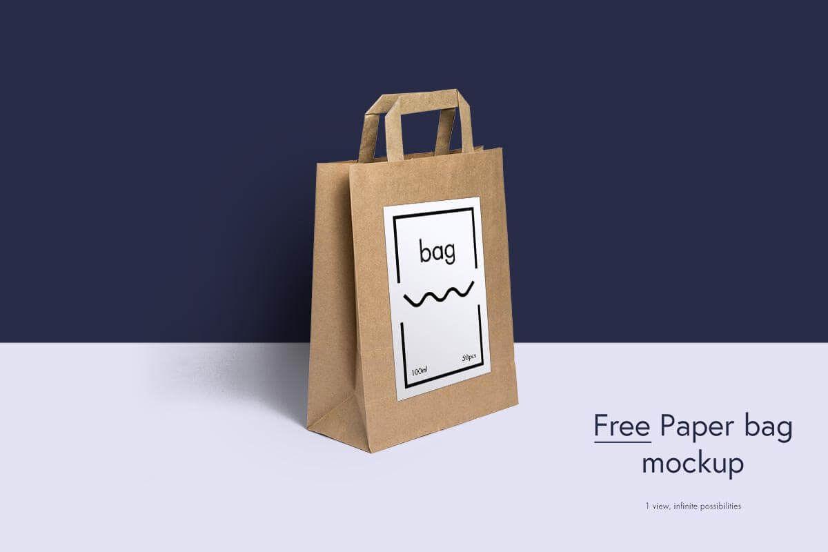 Download 200 Ultimate Mockups For Free That Make Your Branding Great Bag Mockup Paper Bag Design Free Logo Mockup