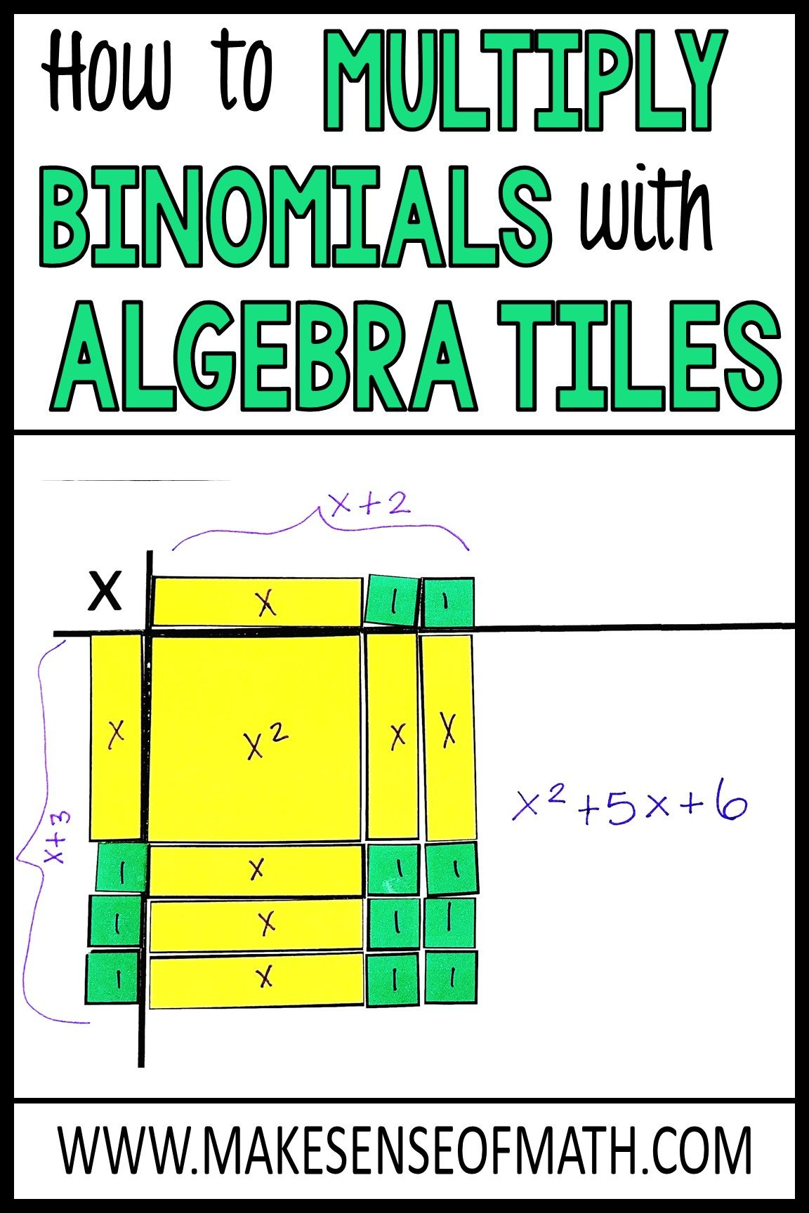 Check Out How To Use Algebra Tiles To Teach Multiplying